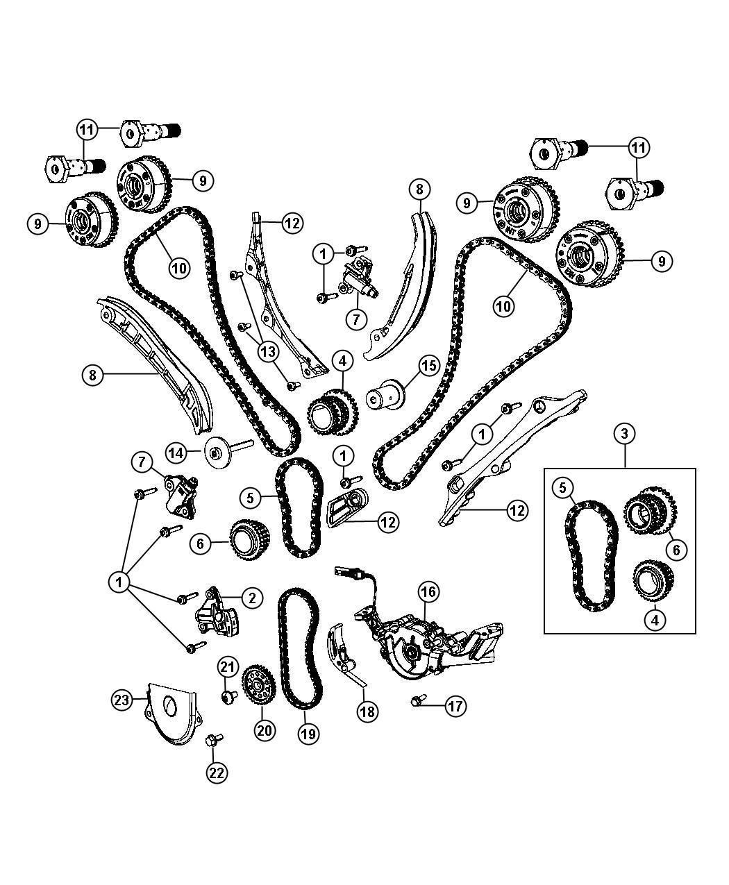 Timing System 3 6l 3 6l V6 Vvt Engine