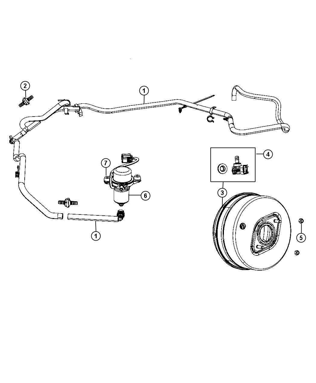 Jeep Grand Cherokee Hose Brake Booster Vacuum All V8