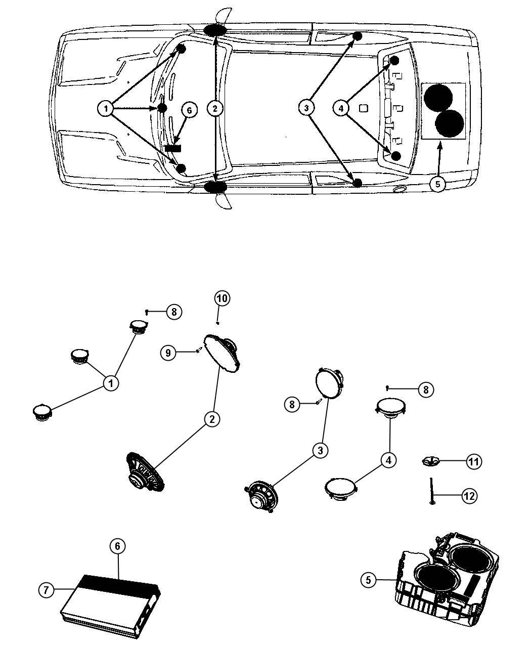 Dodge Challenger Speaker Sub Woofer Rge