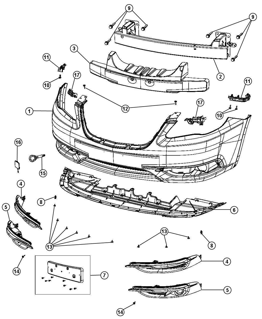 Dodge Avenger Bumper Diagram