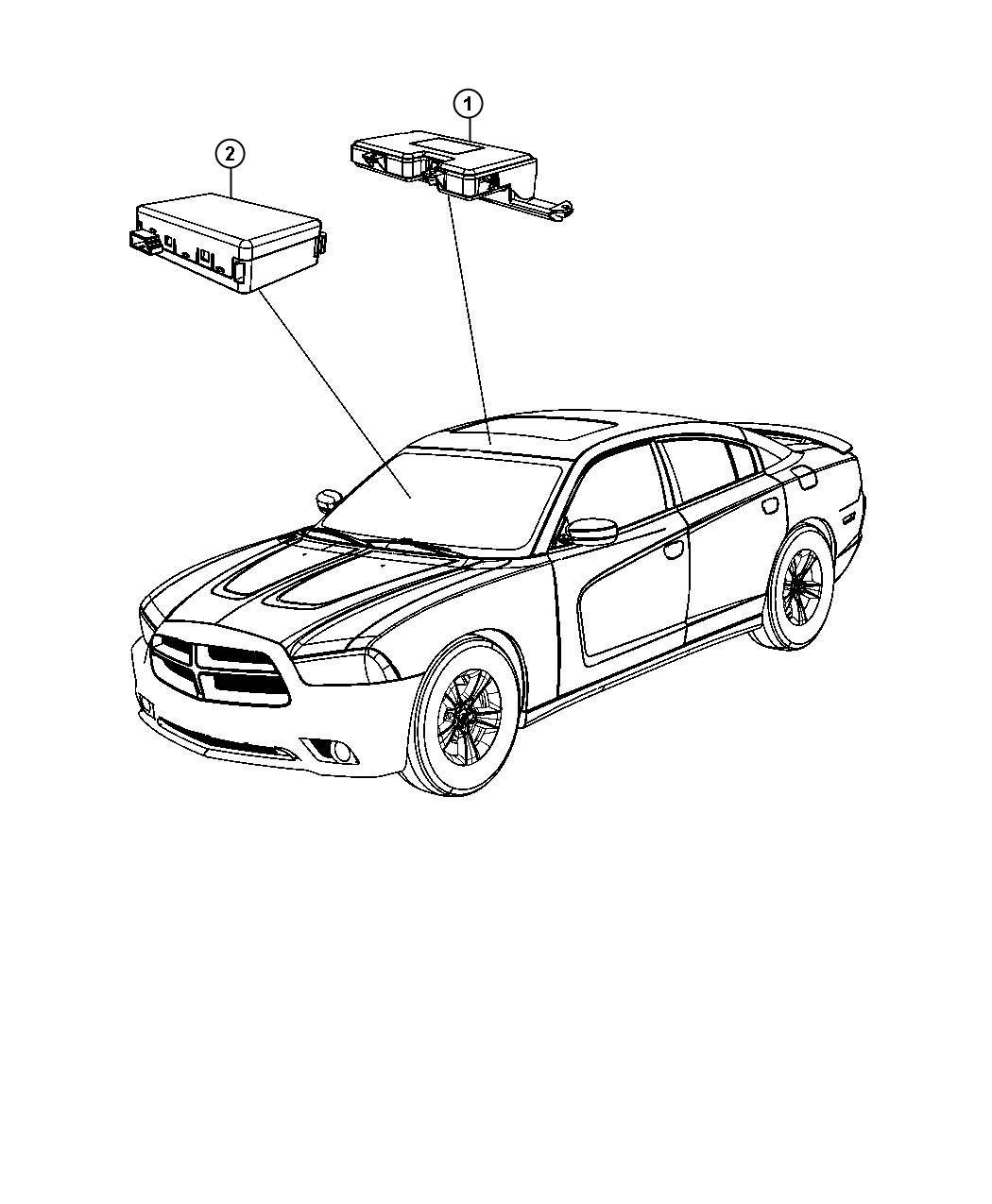Dodge Charger Module Rain Sensor Rain Sensitive