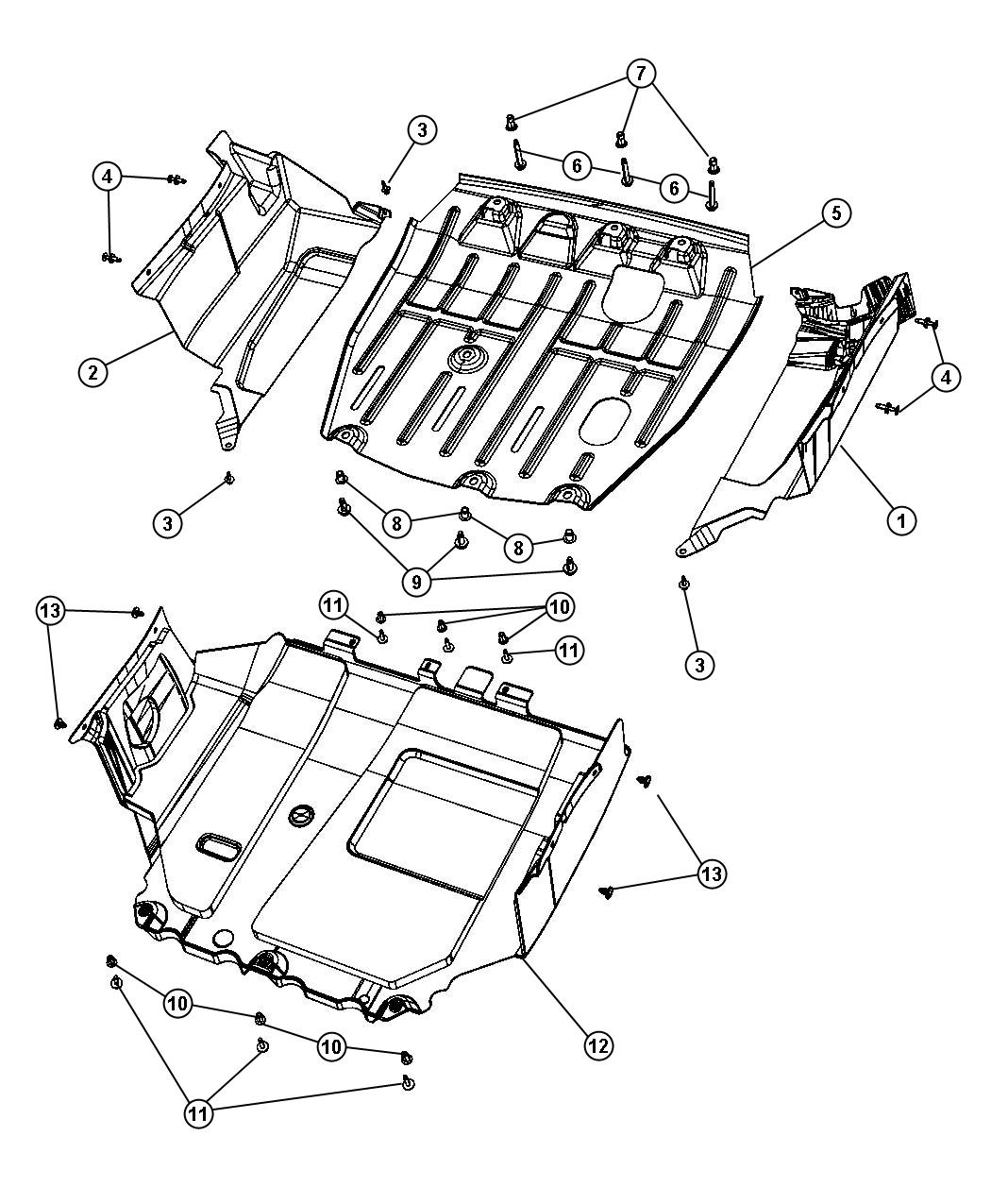 Jeep Patriot Skid Plate Front Trans Engine Oil Pan Skid