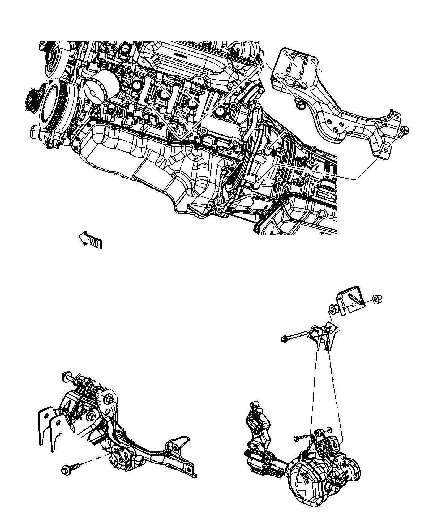 Ram Bracket Engine Mount Left Side Air