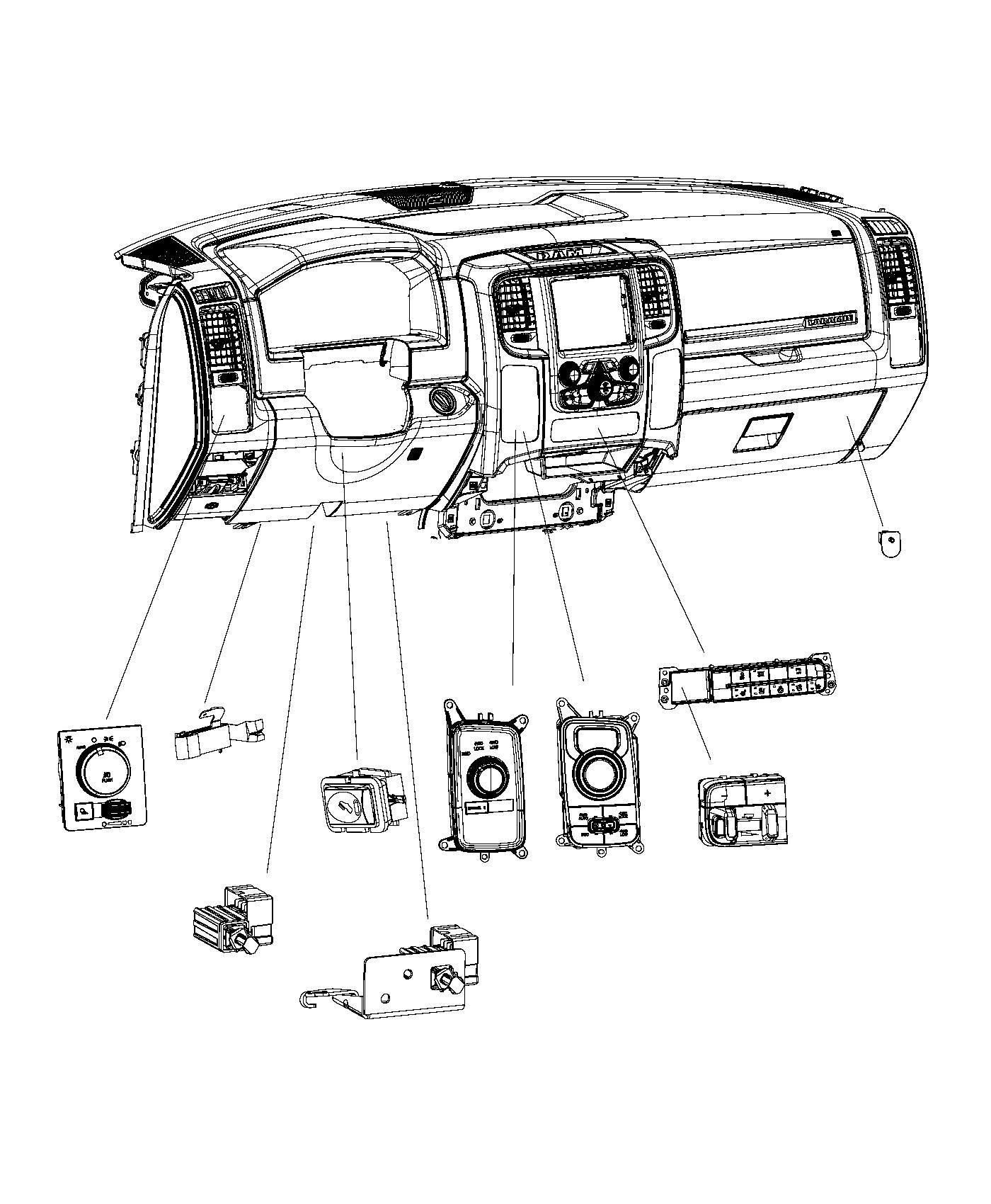 Dodge Switch Ignition Push Button Trim O0