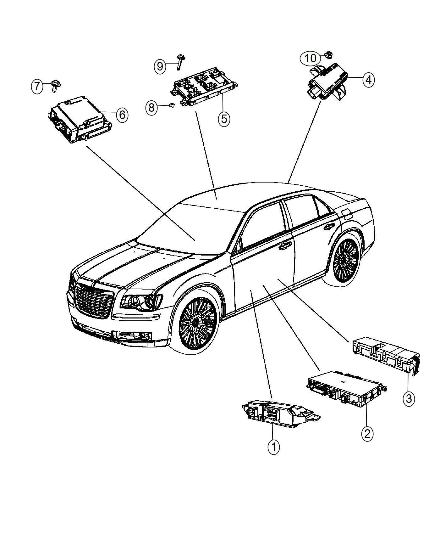 Chrysler Module Body Controller Export Police