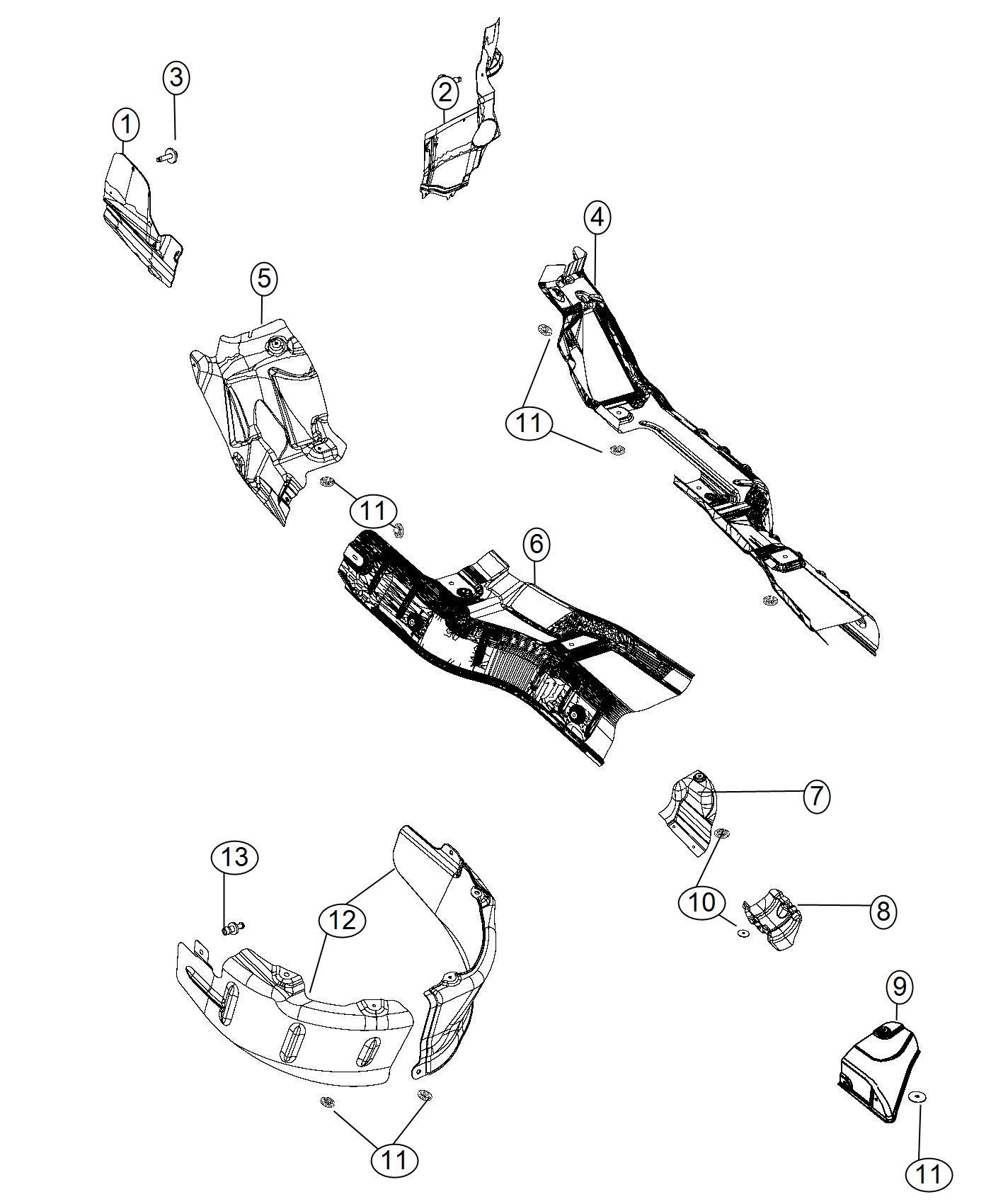 Dodge Durango Shield Exhaust Resonator Right