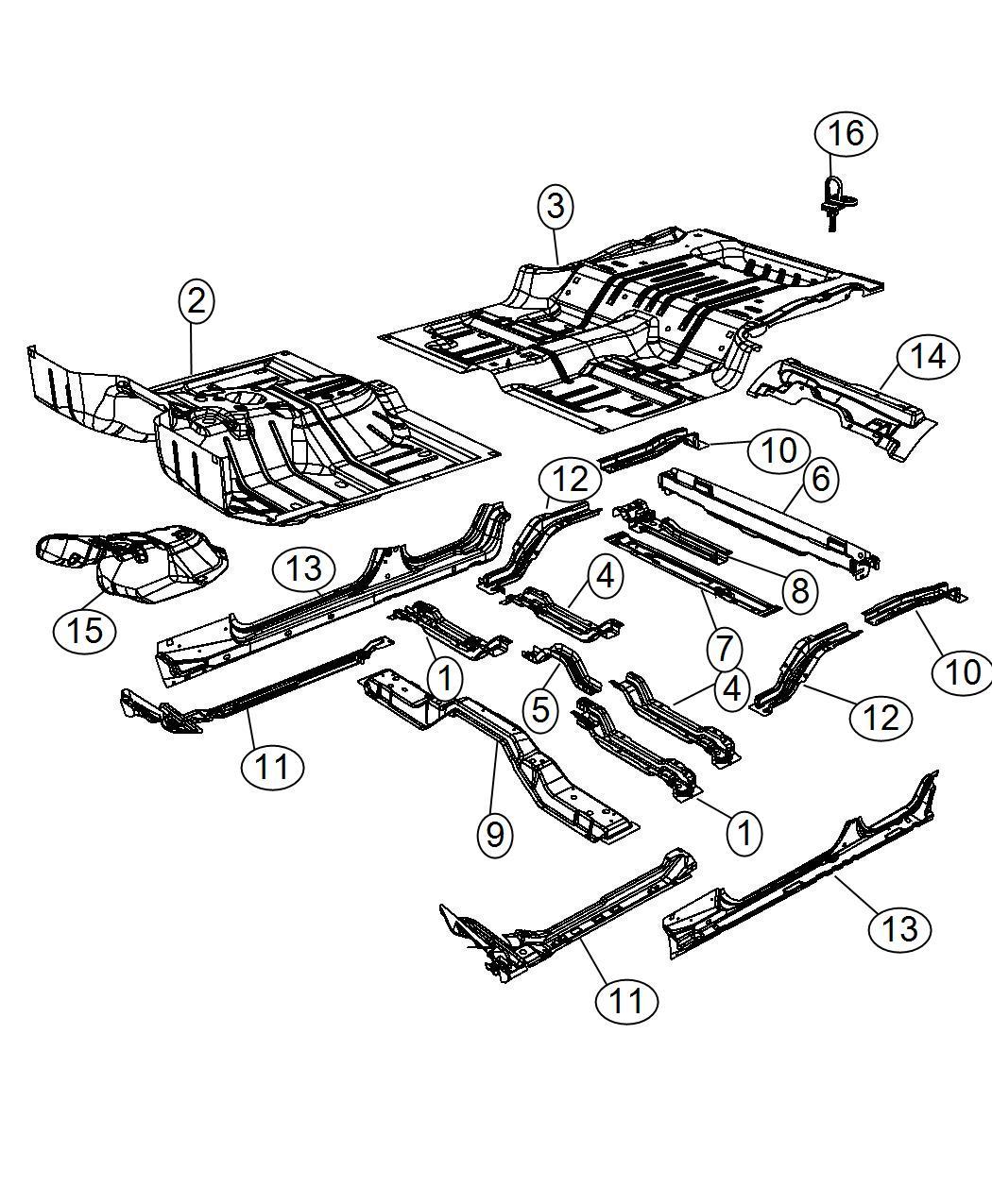 Jeep Latch Load Floor Cover Trim No Description