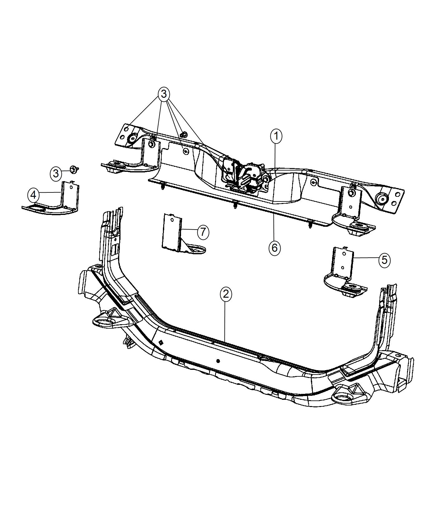 Jeep Compass Crossmember Radiator Closure Panel Without
