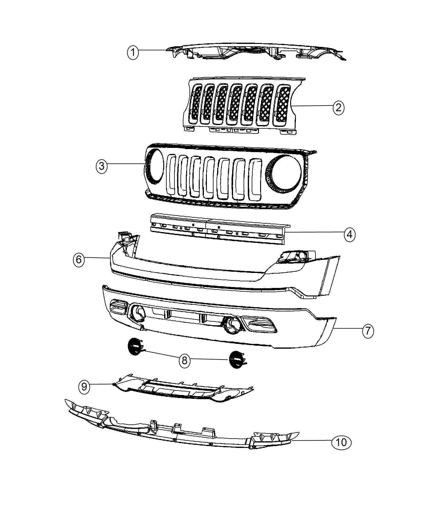 Jeep Patriot Reinforcement Front Bumper Without