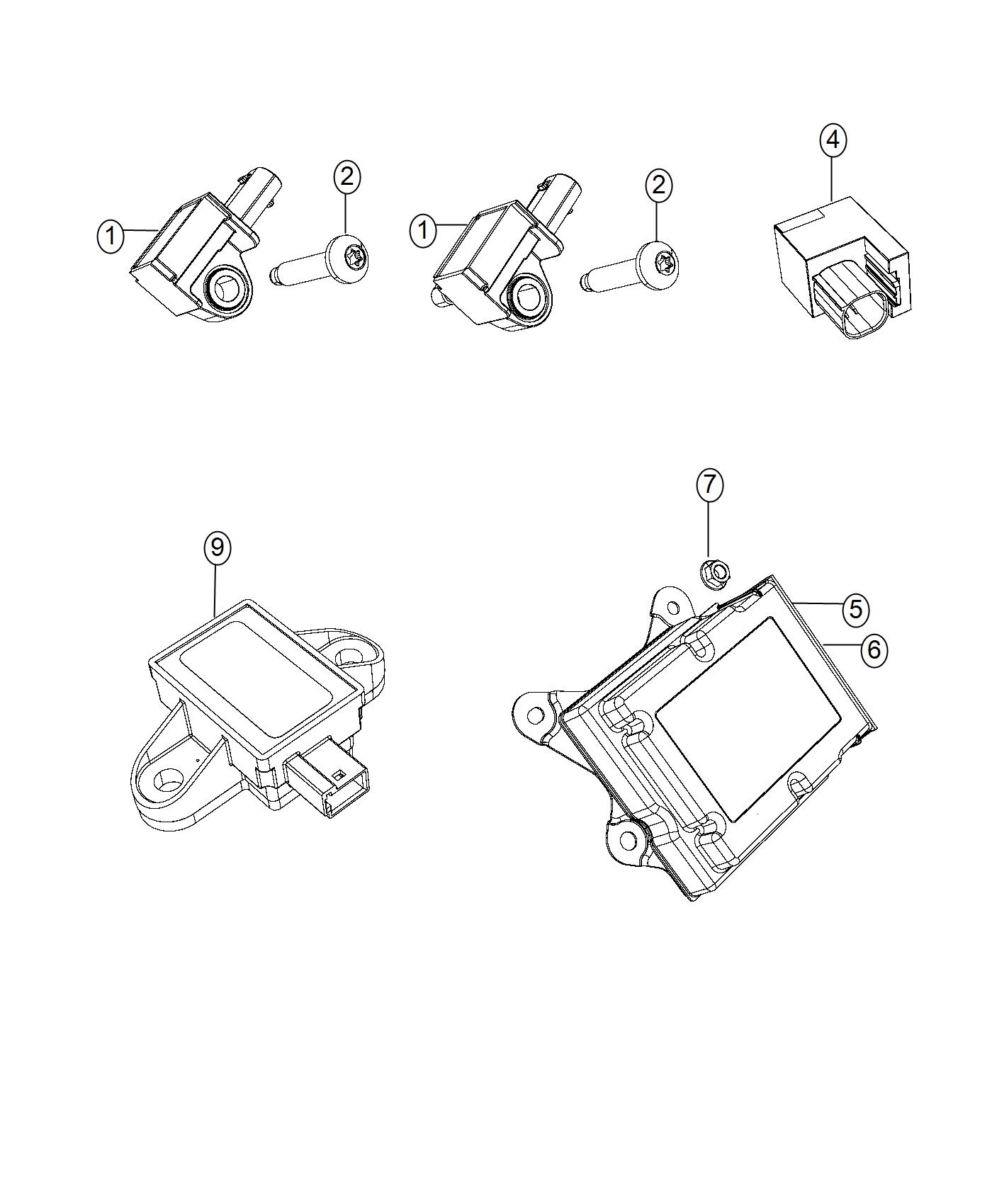 Chrysler Pacifica Module Kit Occupant Classification