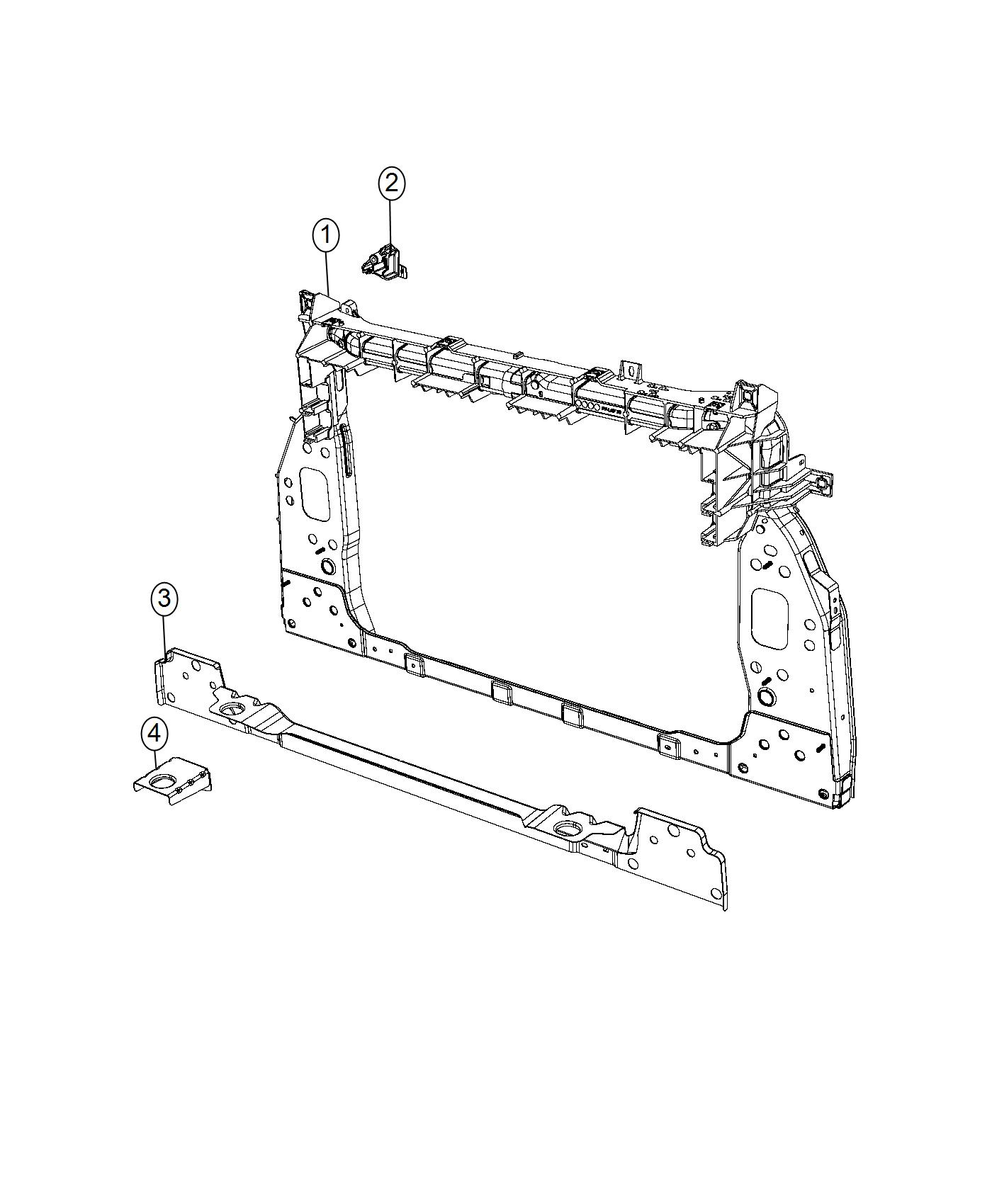 Jeep Renegade Bracket Impact Sensor Right Front