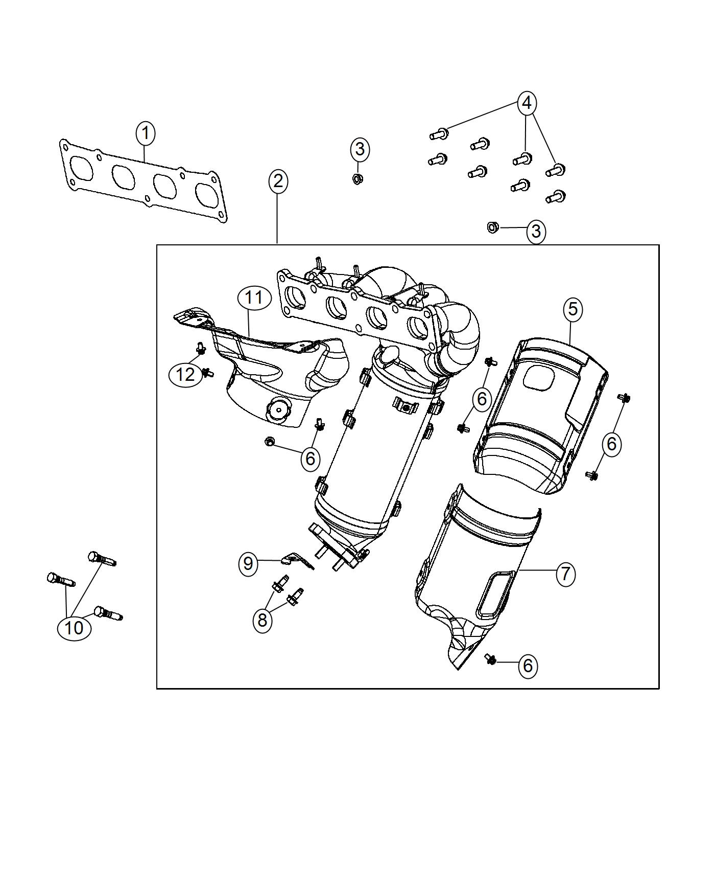 Jeep Renegade Manifold Used For Exhaust And