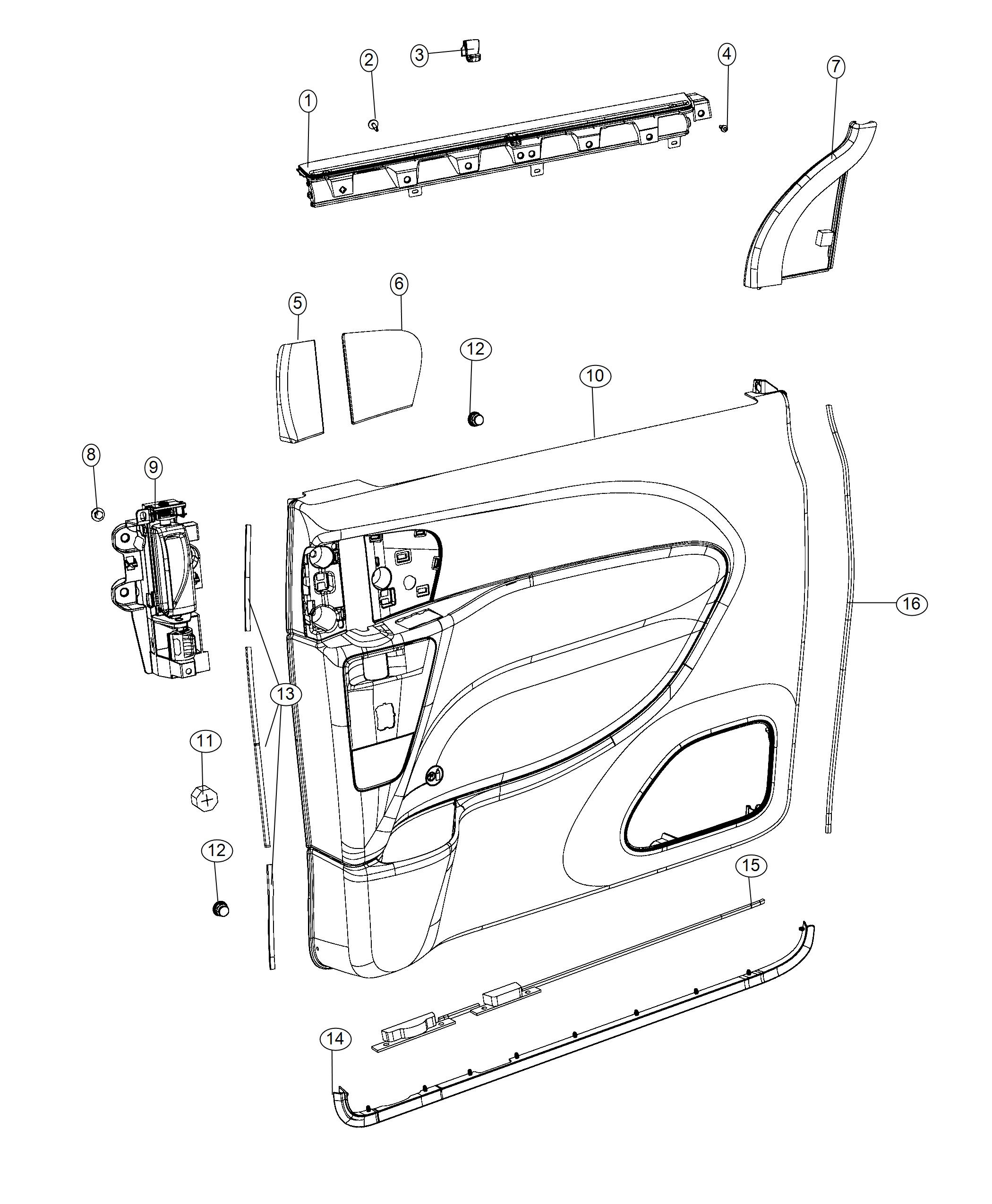 Chrysler Pacifica Hook Window Shade Right Or Left Trim