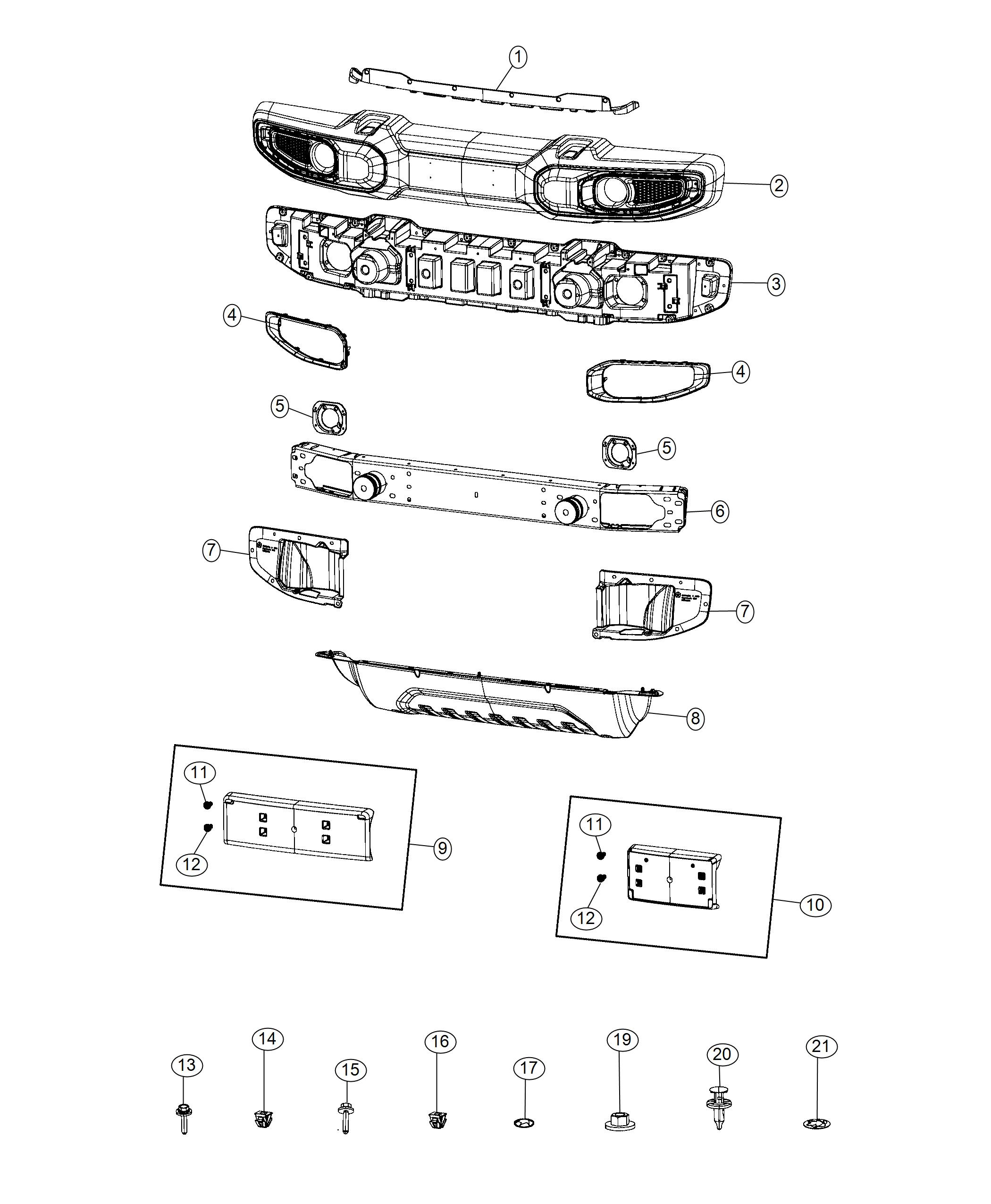 Jeep Wrangler Bumper Front Front Fascias Parts