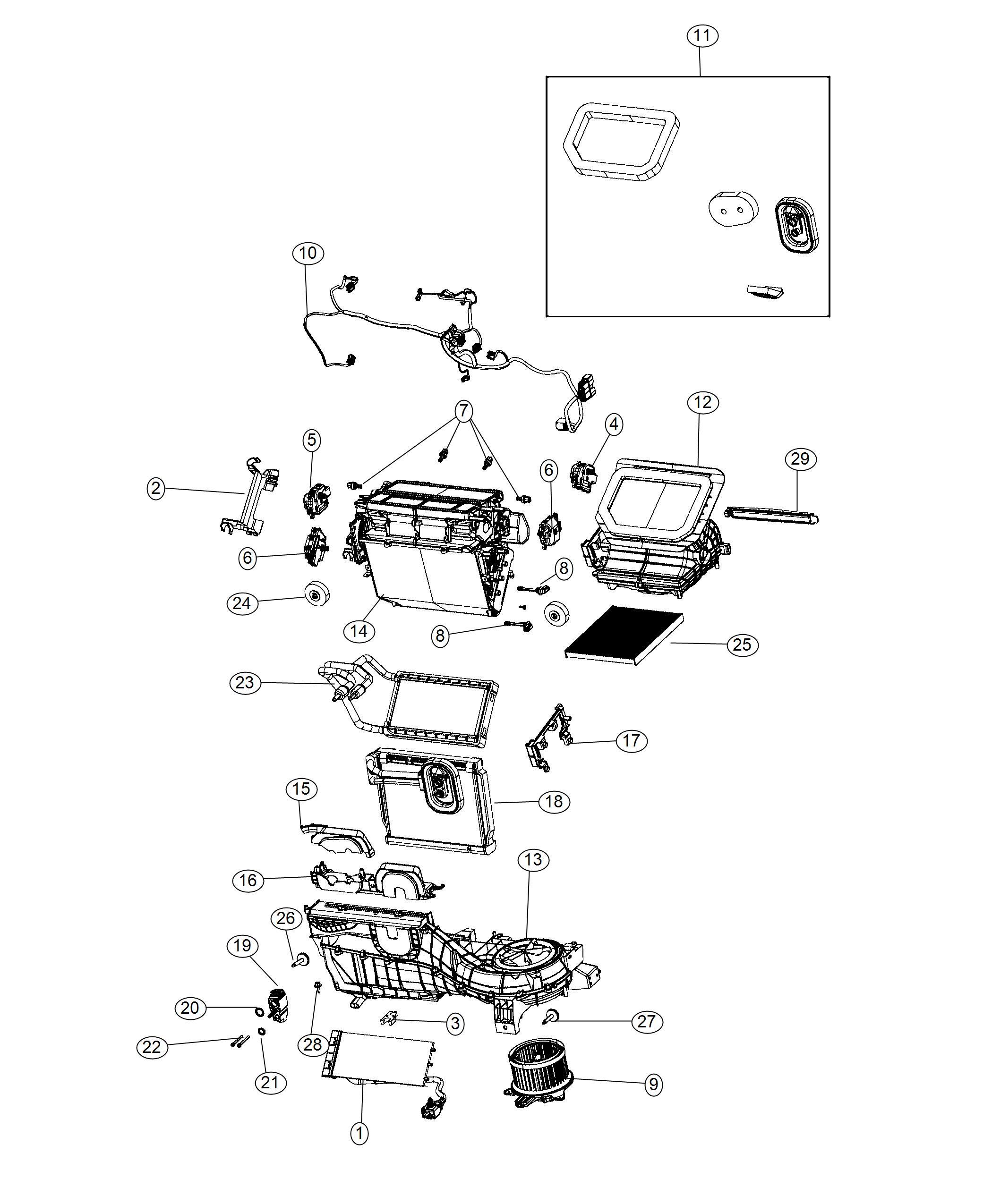 Jeep Wrangler Filter Cabin Air