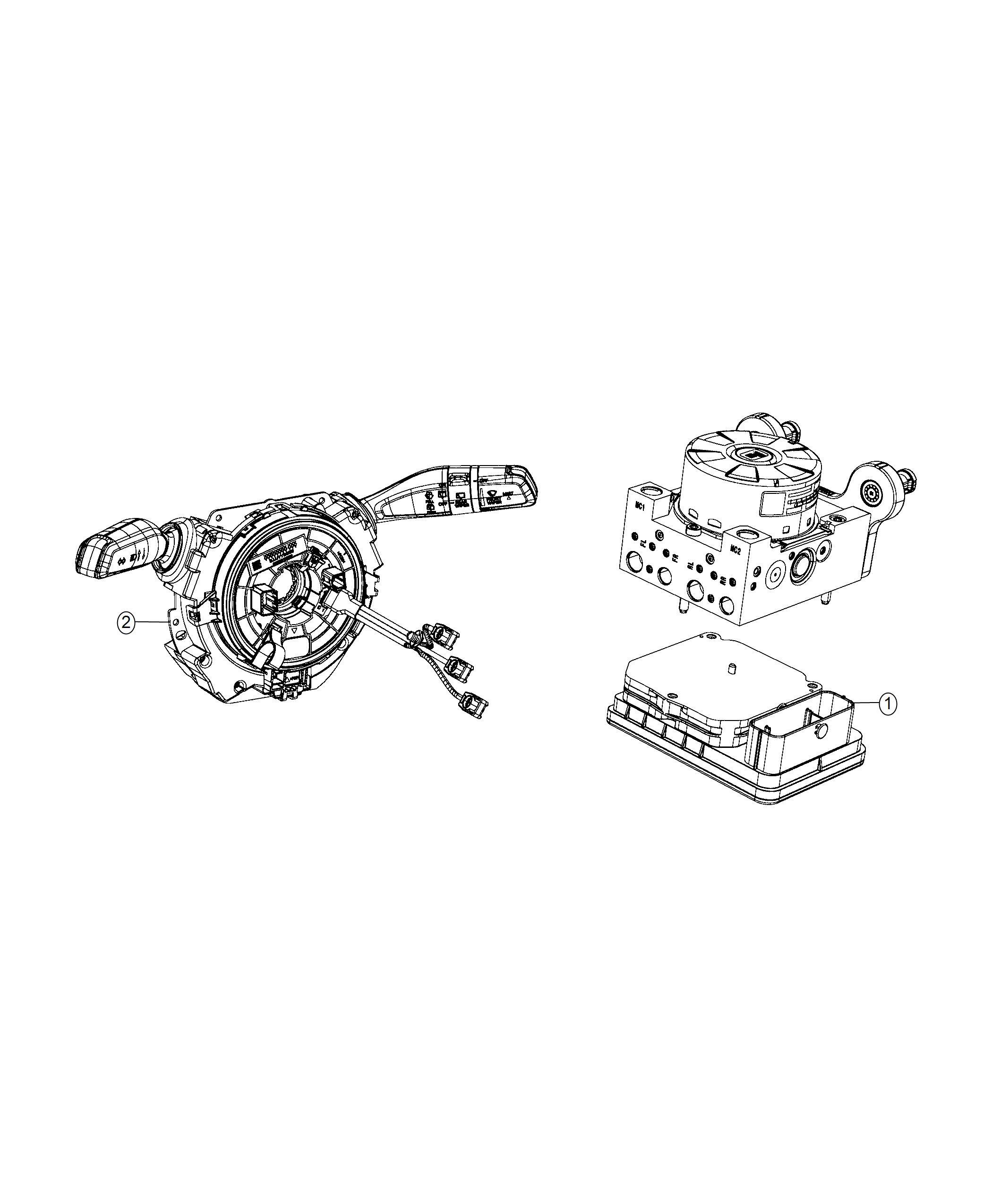 Jeep Wrangler Module Steering Column Instrument