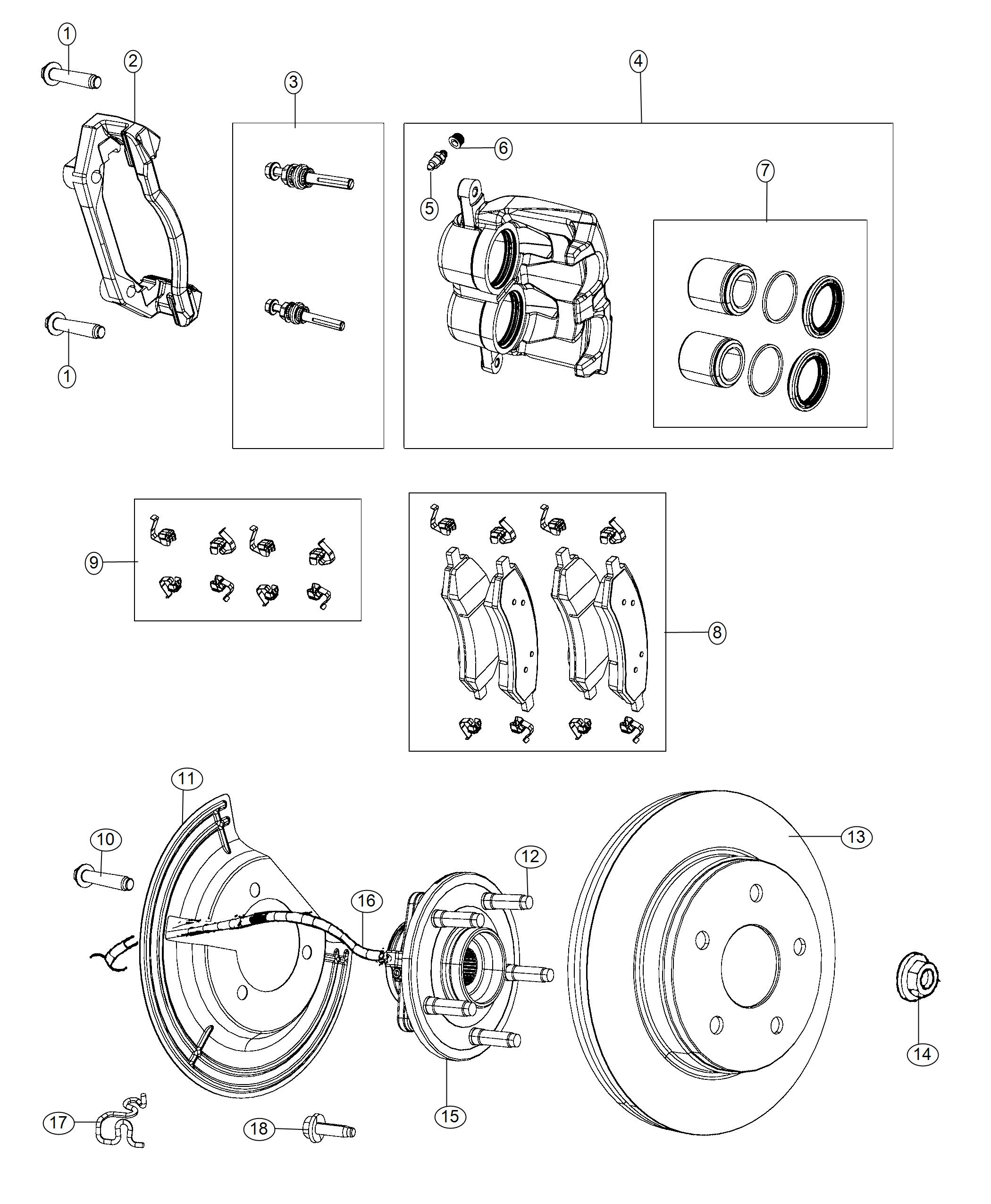 Ram Pad Kit Front Disc Brake Anti Lock 4