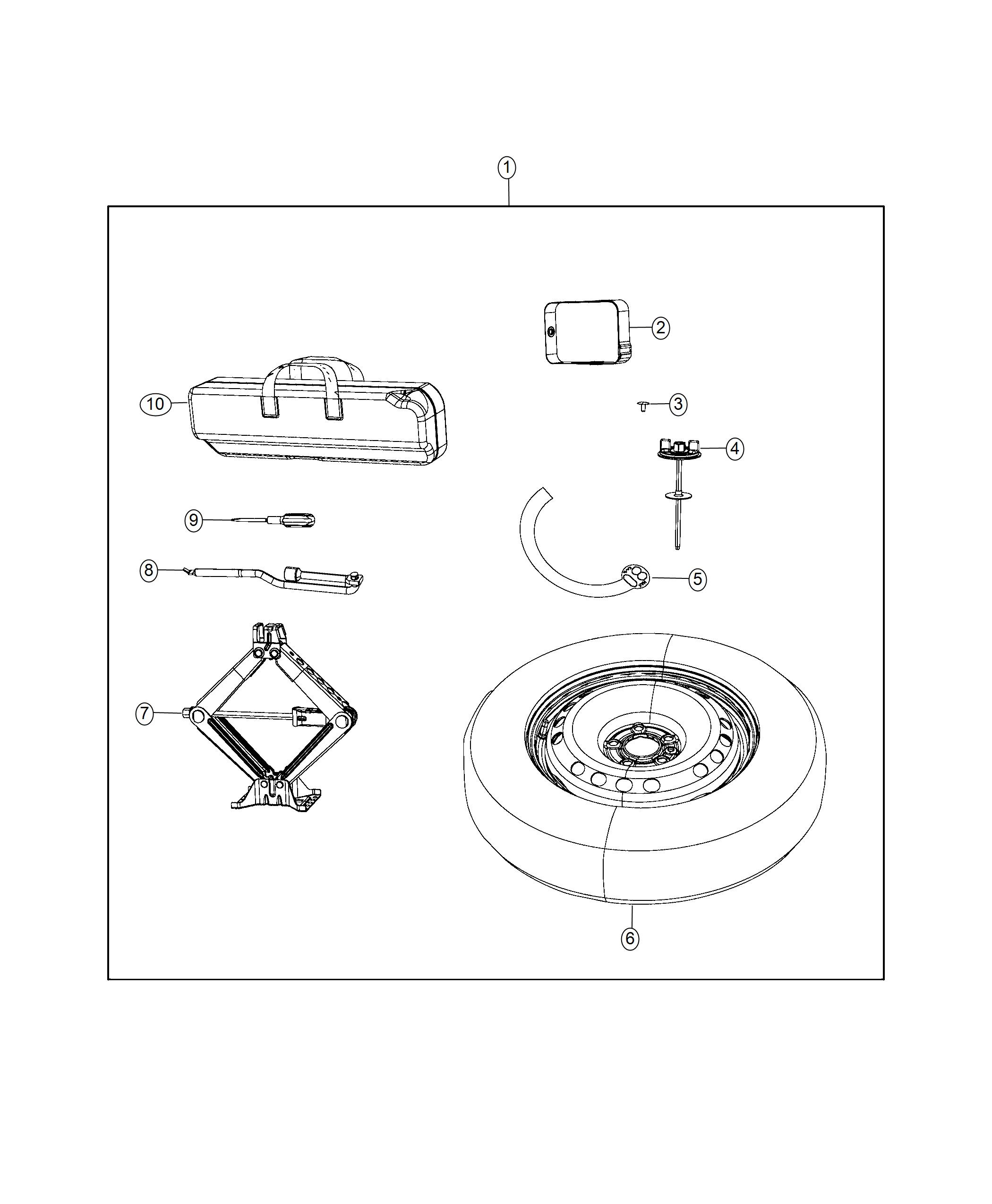 Jeep Renegade Spare Tire Kit Including Tire Wheel