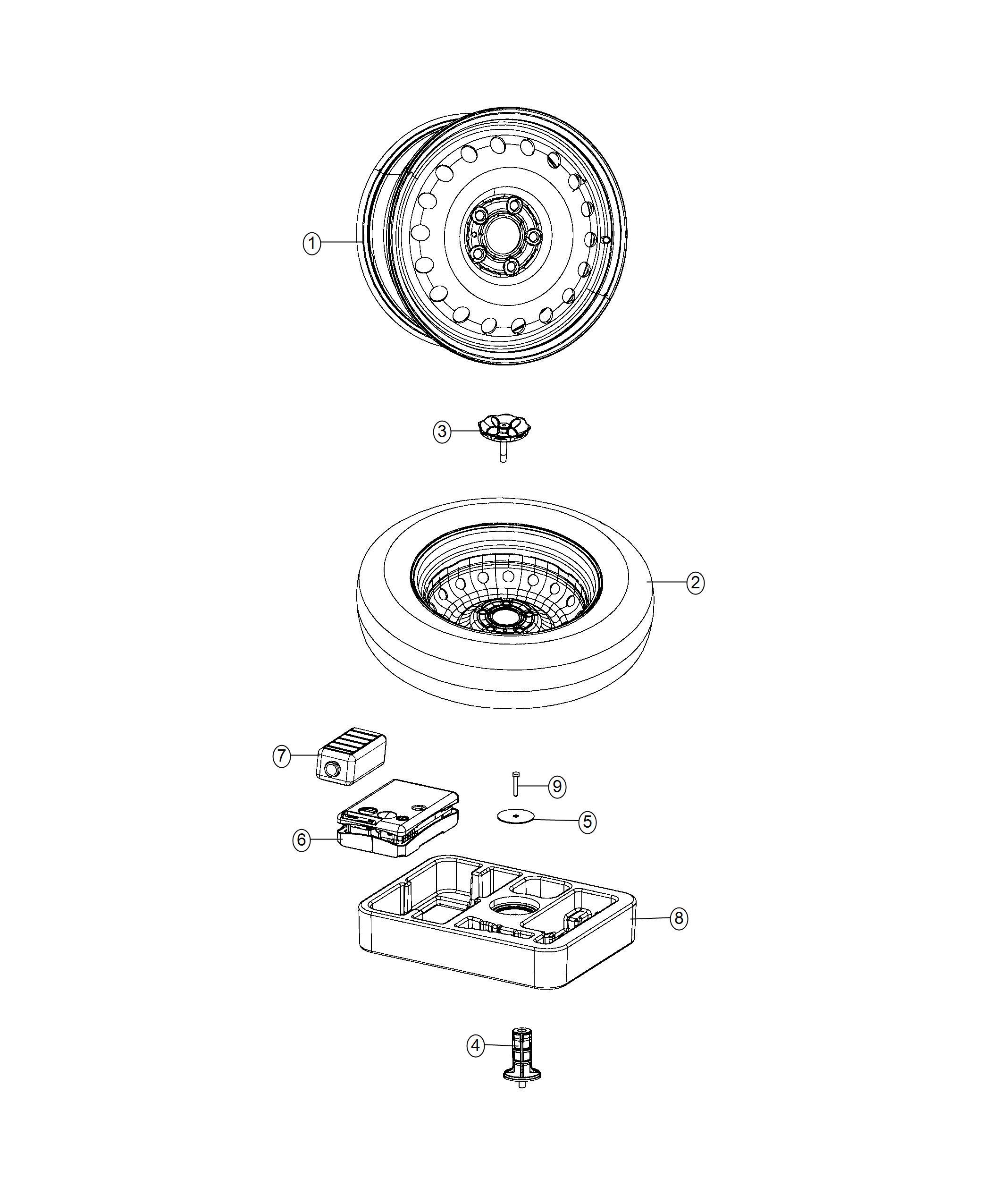 Jeep Renegade Inflator Kit Tire Export Xfp