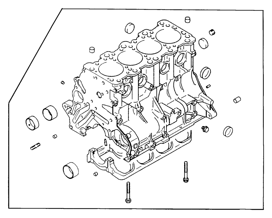 Cylinder Block 3 0 L Engine