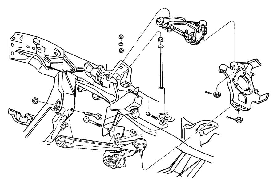 Dodge Dakota Nut Hex Flange Locking M16x2 00 Mounting