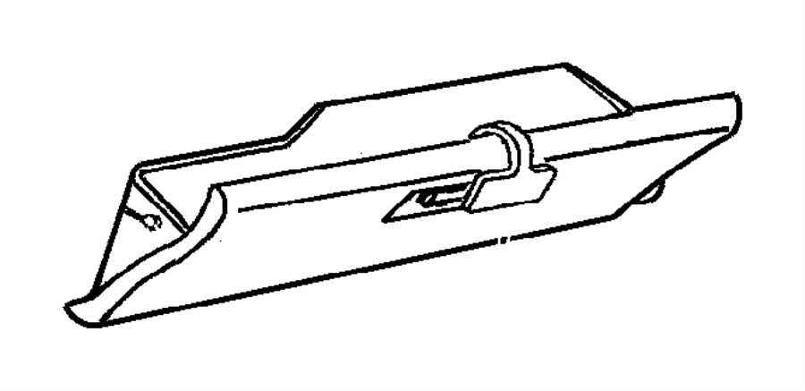 Dodge Dakota Striker Glove Box Door Latch Trim O0