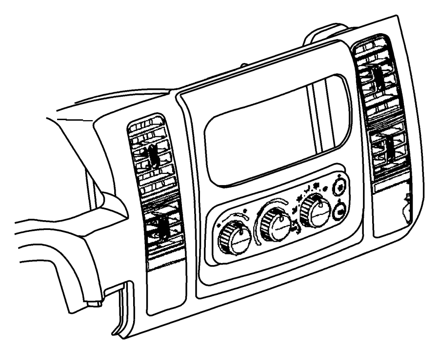 Dodge Ram Control Air Conditioning Used For A C
