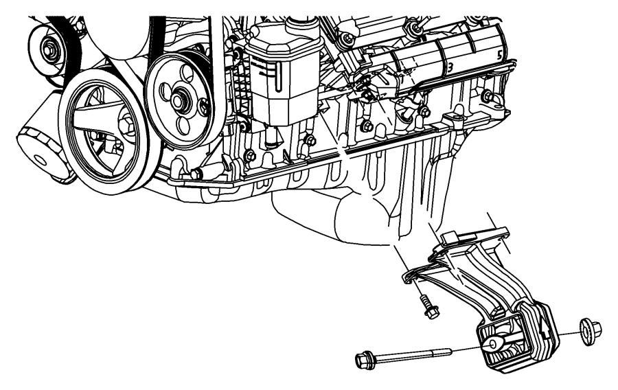 Engine Mounting Left Side Rwd 2wd 6 7l 6 7l Cummins Turbo