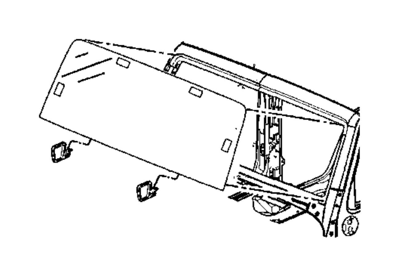 Jeep Wrangler Panel Windshield Frame