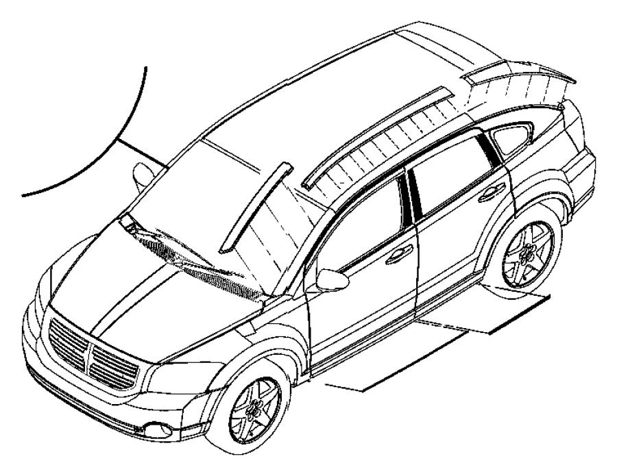 Dodge Caliber Applique Roof Panel Right Color No