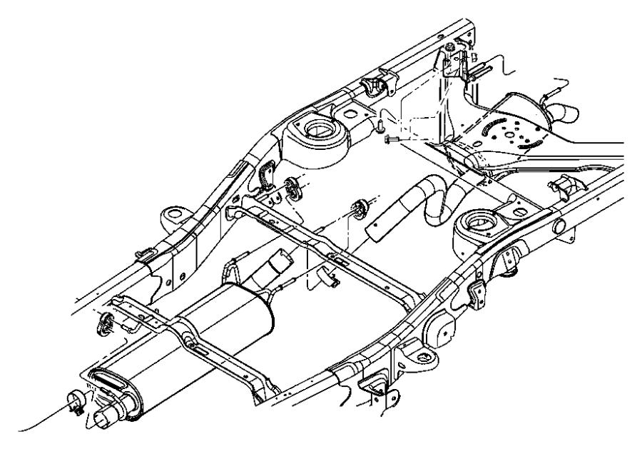 Chrysler Aspen Muffler And Tailpipe Exhaust
