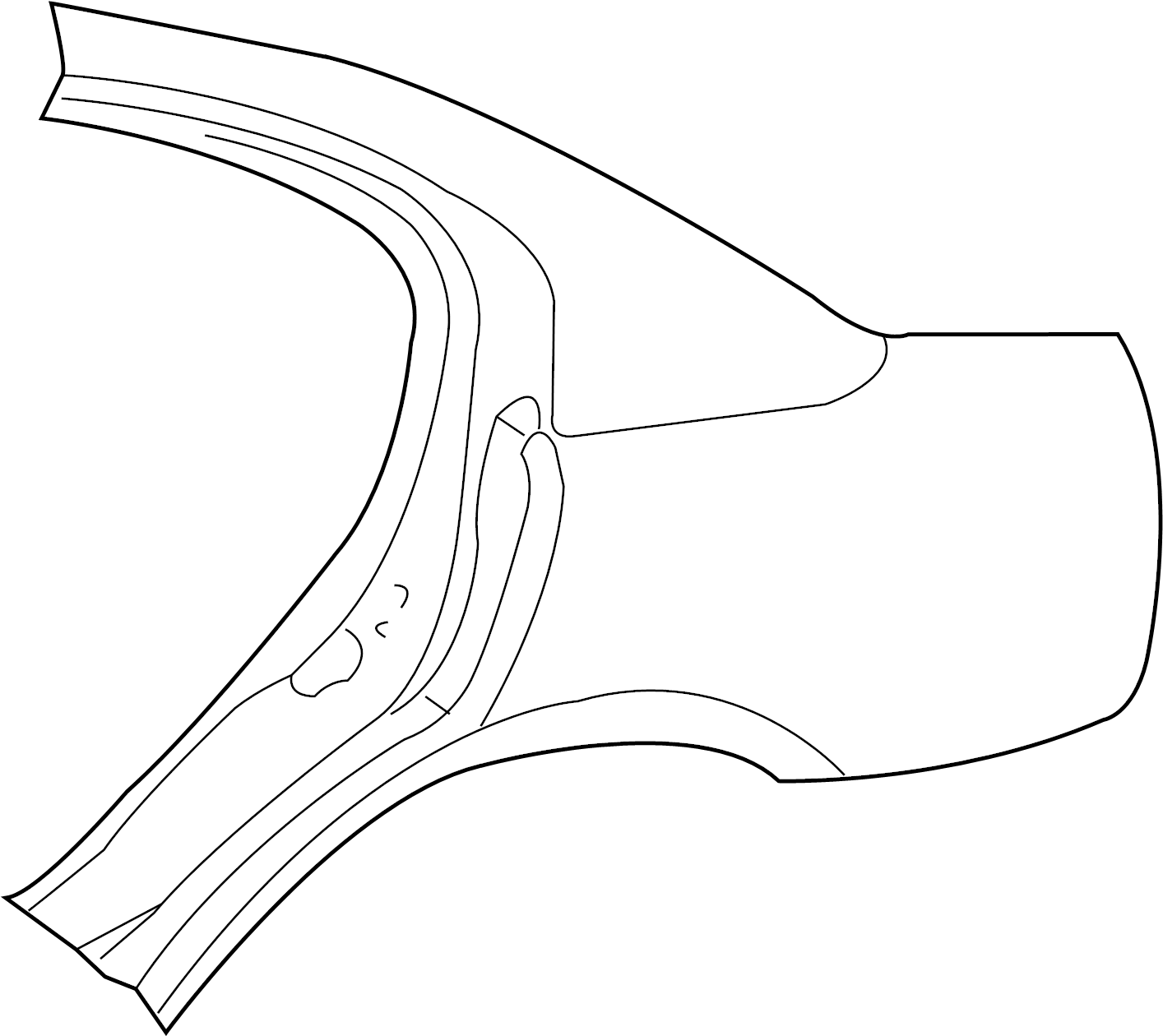 Panel Left Body Side Aperture Outer Rear Rear Aperture
