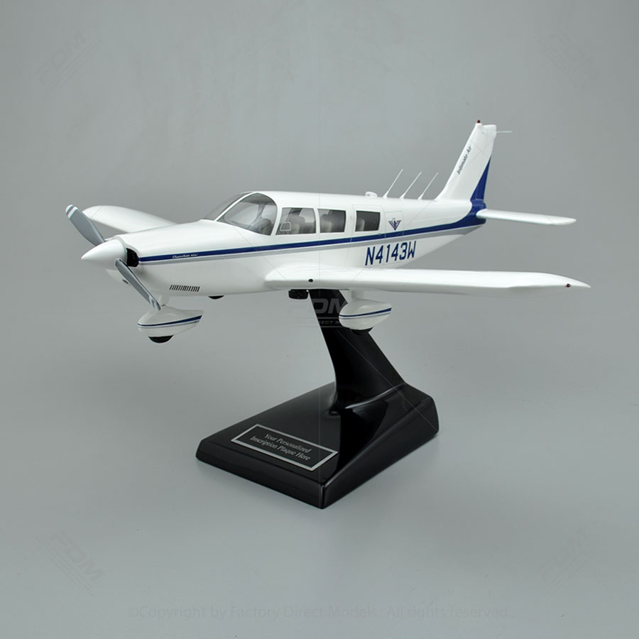 Piper PA 32 300 Cherokee Six Model Airplane With Detailed