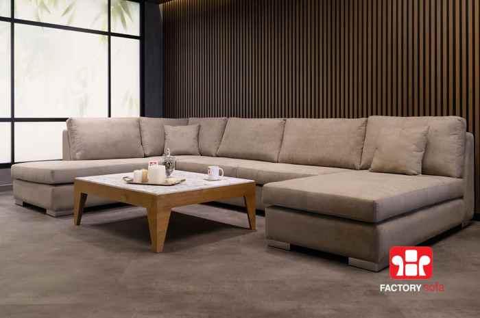 Σαλόνι ASTIPALEA σε σχήμα Πι | Σαλόνια Καναπέδες Factory Sofa Προσφορές
