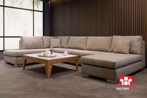 Σαλόνι ASTIPALEA σε σχήμα Πι   Σαλόνια Καναπέδες Factory Sofa Προσφορές