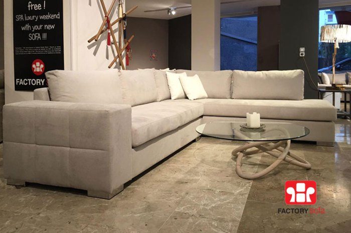 SIFNOS Corner Sofa • Overall Dimension  3.00 Χ 2.50m • Waterproof Fabric • Over 100 colors of fabric to choose from • Removable fabrics from the cushions • 10 years guarantee (frame) • 4 years guarantee (foamed pillow parts)