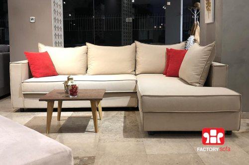 Σαλόνι γωνία IOS 2.50m x 1.90m με αδιάβροχο ύφασμα και 10 χρόνια Εγγύηση | Καναπέδες & Σαλόνια Factory Sofa