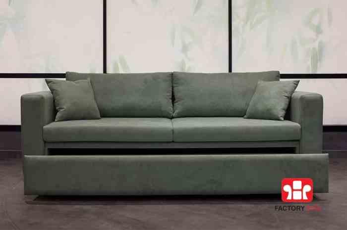 Καναπές Κρεβάτι Folegandros με συρόμενο μηχανισμό.