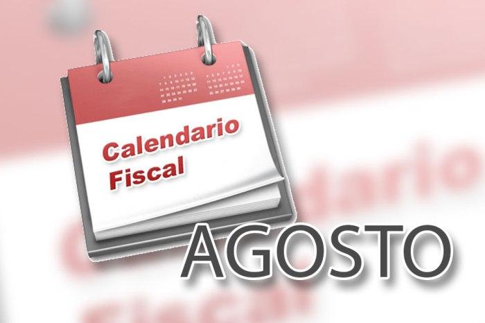 Obligaciones de los contribuyentes para el mes de Agosto