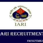 IARI Recruitment 2019