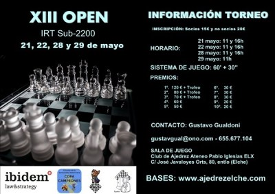 Competición de ajedrez en Elx Alicante