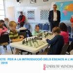 ajedrez aula colegio