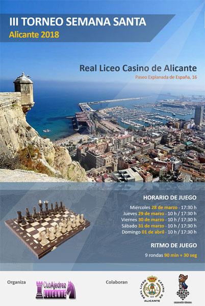 cartel torneo ajedrez alicante