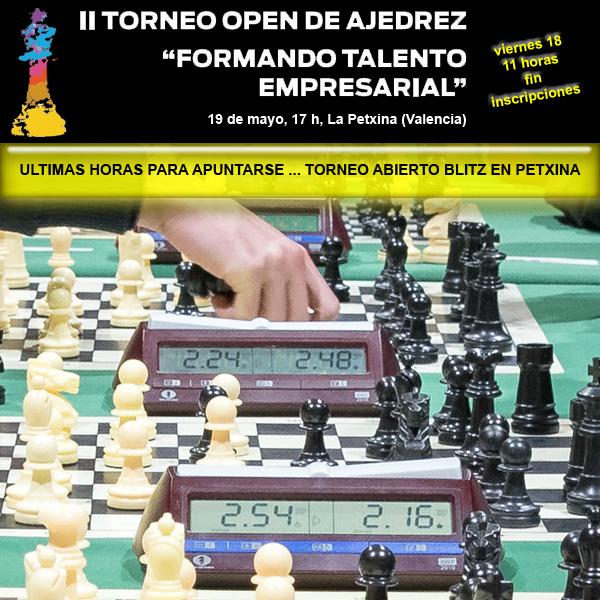 cartel torneo ajedrez valencia