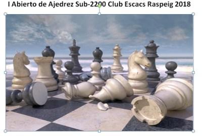 cartel torneo ajedrez Raspeig