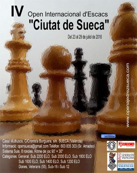 cartel open ajedrez Sueca