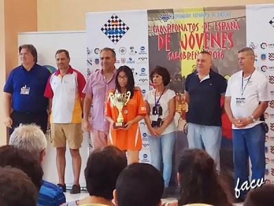 Viviana Galvan campeona ajedrez