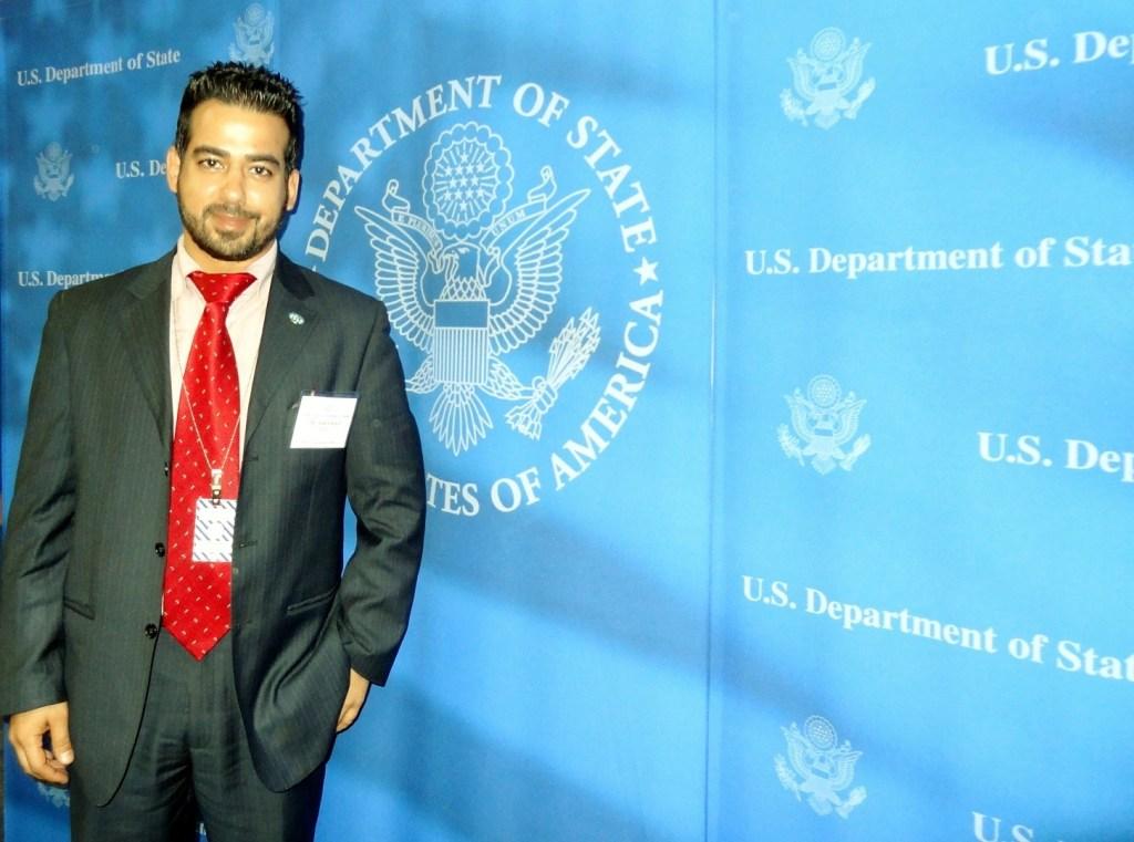 Fadi in US Dpt of State_Harry Truman Building, Washington D.C. - IVLP 2013