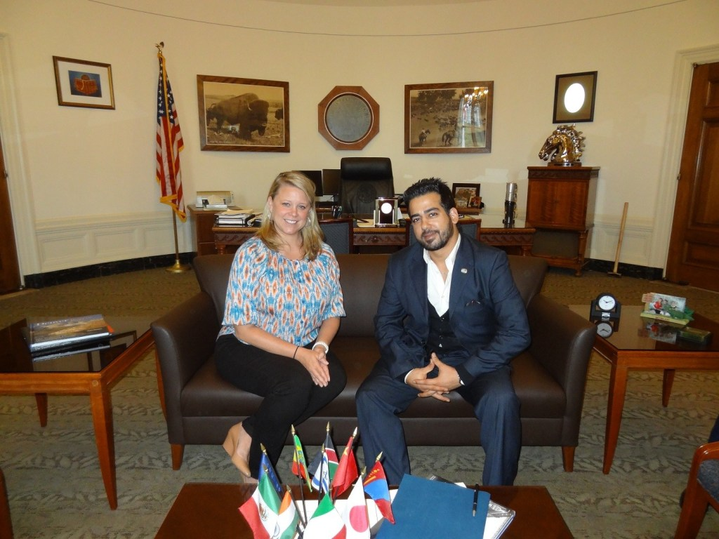 Fadi Ghali In the Mayor of Denver's office with his legislative Assistant Stacey Loucks