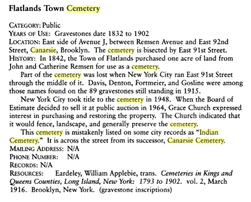 A Family Historian's Guide to New York City Cemeteries